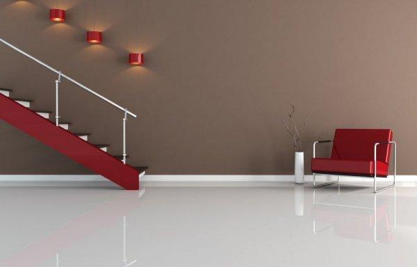 moderne Innenausstattung mit Treppe