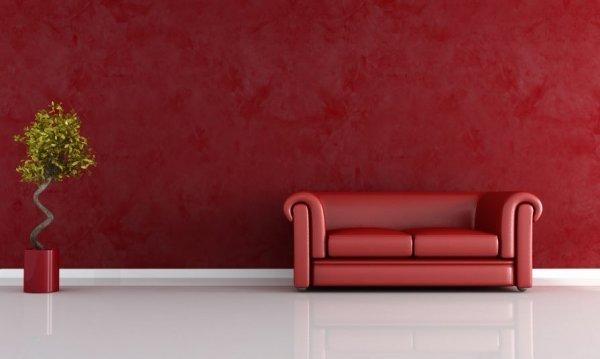 rotes Wohnzimmer